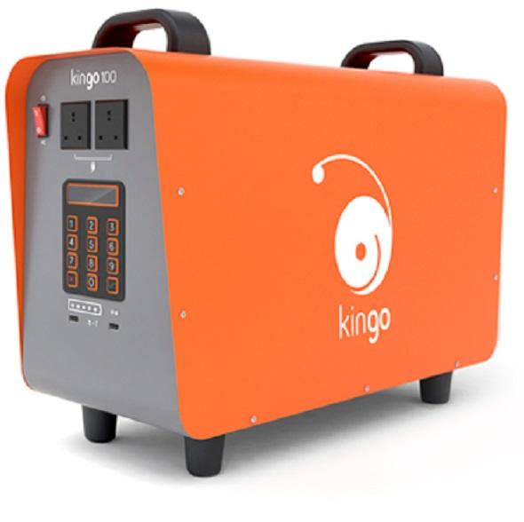 El Kingo 100 ofrece suficiente energía para alimentar 5 bombillas, 2 teléfonos celulares y 2 aparatos de corriente alterna de forma simultánea. Fuente: Web de Kingo